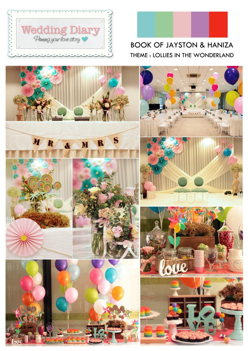 wedding at hortpark_rainbow theme