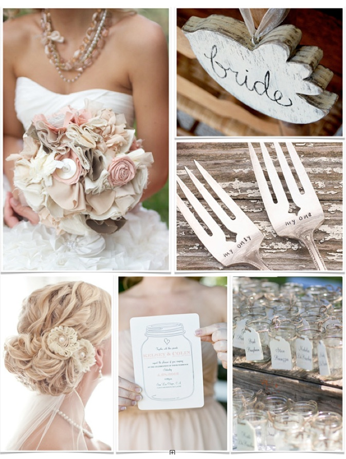 Pink Shabby Chic Wedding Ideas | Wedding Diary : Penning Your Love