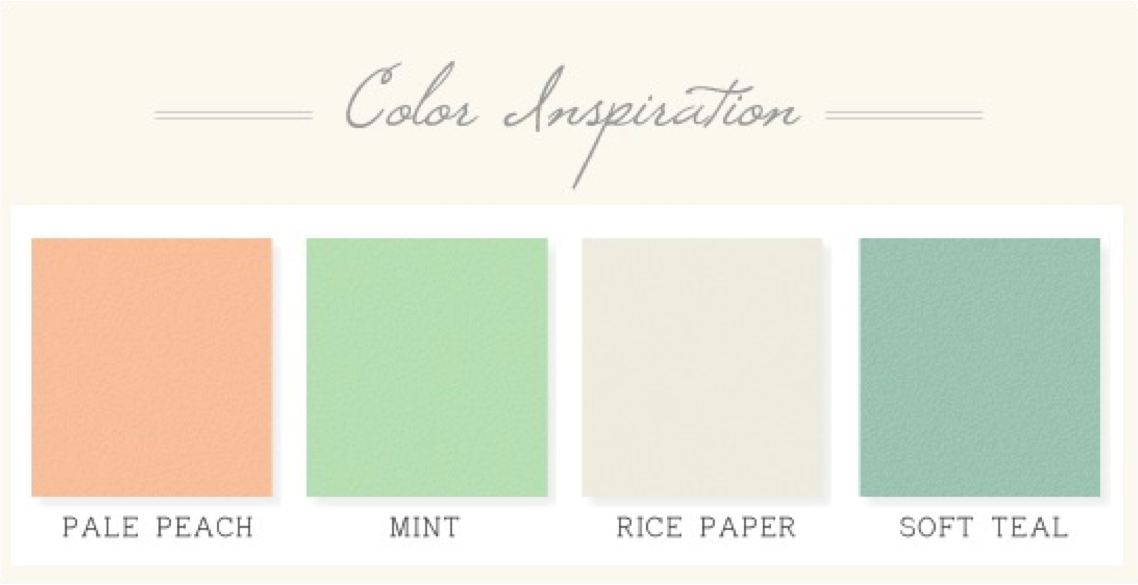 Blush And Mint Color Palette